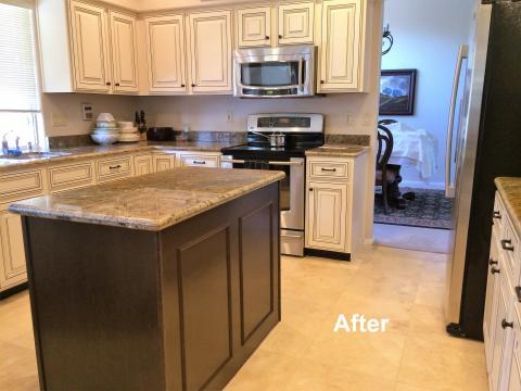 Sweet Kitchen Refacing | The Golden Rule Furniture Repair